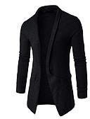זול טישרטים לגופיות לגברים-צבע אחיד - סוודר ארוך שרוול ארוך צווארון חולצה בגדי ריקוד גברים