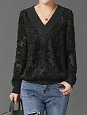 cheap Women's Sweaters-Women's Holiday Street chic Blouse - Solid Colored V Neck / Spring