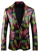 זול גברים-ג'קטים ומעילים-גיאומטרי רזה בלייזר - בגדי ריקוד גברים, דפוס