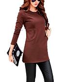 olcso Női ruhák-Női Pamut Vékony Pulóver Egyszínű / Tavasz / Ősz