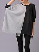 preiswerte Damen Pullover-Damen Ausgehen Anspruchsvoll Lose Pullover - Einfarbig V-Ausschnitt / Frühling
