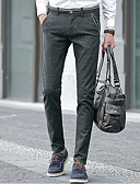 זול מכנסיים ושורטים לגברים-בגדי ריקוד גברים סגנון רחוב צ'ינו מכנסיים אחיד