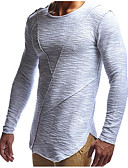 cheap Men's Underwear & Socks-Men's Sports Street chic Cotton Slim T-shirt - Solid Colored Round Neck / Long Sleeve / Long