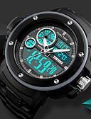 cheap Dress Watches-SKMEI Men's Casual Watch / Sport Watch / Digital Watch Chinese Calendar / date / day / Chronograph / Water Resistant / Water Proof PU Band Luxury / Casual Black / Stopwatch / Noctilucent