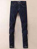 זול מכנסיים ושורטים לגברים-בגדי ריקוד גברים כותנה ג'ינסים מכנסיים אחיד