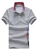 tanie Męskie koszulki polo-Rozmiar plus Polo Męskie Wzornictwo chińskie Kołnierzyk koszuli Kwiaty / Krótki rękaw