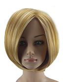 ieftine Cămașă-Peruci Sintetice Drept Blond Tunsoare bob Păr Sintetic Păr Balayage / Șuvițe Blond Perucă Pentru femei Scurt Fără calotă Blond hairjoy