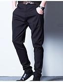 tanie Koszulki i tank topy męskie-Męskie Aktywny Puszysta Bawełna Typu Chino Spodnie Solidne kolory