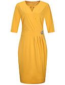 tanie Print Dresses-Damskie Podstawowy / Wyrafinowany styl Puszysta Szczupła Spodnie - Solidne kolory Niebieski / W serek / Święto