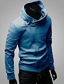 ieftine Tricou Bărbați-Bărbați Activ Mărime Plus Size Pantaloni - Mată / Dungi Maro / Capișon / Sport / Manșon Lung / Iarnă