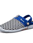 tanie Kwarcowy-Męskie Komfortowe buty Tiul Lato Klapki i japonki brązowy / Niebieski / Biały / Niebieski