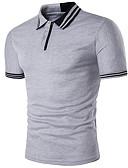 billige Hettegensere og gensere til herrer-Skjortekrage Polo Herre - Ensfarget Gatemote / Kortermet