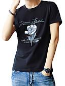ieftine Maieu & Tricouri Bărbați-Bărbați Tricou De Bază Șic Stradă-Mată Geometric Imprimeu