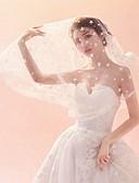זול הינומות חתונה-שכבה אחת שבכה / רעלה הינומות חתונה צעיפי מרפק / צעיפי אצבע עם סגנון מוטיב פרחוני מפוזר ביד טול / סגלגל