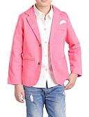 preiswerte Jacken & Mäntel für Jungen-Kinder Jungen Einfach / Freizeit Alltag Solide / Druck Langarm Baumwolle / Polyester Anzug & Blazer Blau