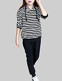 tanie Zestawy ubrań dla dziewczynek-Dzieci Dla dziewczynek Casual Sport Prążki Długi rękaw Komplet odzieży