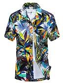זול חולצות לגברים-משובץ בוהו / פאנק & גותיות מידות גדולות חולצה - בגדי ריקוד גברים / שרוולים קצרים