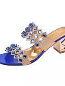 abordables Biquinis y Bañadores para Mujer-Mujer Zapatos PU Verano Confort Sandalias Tacón Cuadrado para Casual Dorado Verde Azul