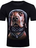 cheap Men's Tees & Tank Tops-Men's Club Street chic / Punk & Gothic Cotton T-shirt Round Neck / Short Sleeve