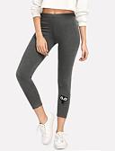 ieftine Leggings-Pentru femei - Brodată Talie Înaltă Sport Legging