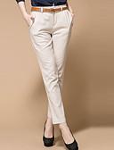 tanie Sukienki-Damskie Bawełna Typu Chino Spodnie Solidne kolory