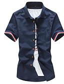 povoljno Muške košulje-Majica Muškarci-Osnovni Dnevno Jednobojni Kolaž