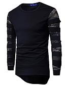 povoljno Muške majice i potkošulje-Majica s rukavima Muškarci - Ulični šik Dnevno Color block Okrugli izrez Print / Dugih rukava