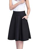 זול חצאיות לנשים-קפלים אחיד - חצאיות כותנה גזרת A וינטאג' מידות גדולות בגדי ריקוד נשים