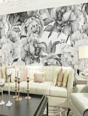 baratos Vestidos para Madrinhas-Floral Art Deco 3D Decoração para casa Vintage Modern Revestimento de paredes, Tela de pintura Material adesivo necessário Mural,