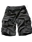 abordables Pantalones y Shorts de Hombre-Pantalones cortos de algodón sueltos de algodón más el tamaño de los hombres activos - camuflaje de color sólido
