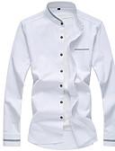 זול בלייזרים וחליפות לגברים-אחיד סגנון רחוב חולצה - בגדי ריקוד גברים בסיסי / שרוול ארוך