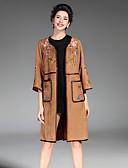 זול שמלות נשים-עכשווי מעיל - בגדי ריקוד נשים, רקום