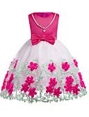 preiswerte Kleider für Mädchen-Mädchen Kleid Alltag Ausgehen Solide Einfarbig Baumwolle Polyester Frühling Herbst Ärmellos Einfach Niedlich Gelb Fuchsia Leicht Blau