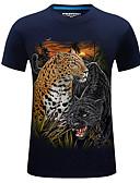 ieftine Maieu & Tricouri Bărbați-Bărbați Tricou De Bază Șic Stradă-Geometric Animal Imprimeu