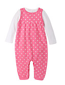 cheap Baby Girls' Clothing Sets-Baby Girls' Casual Solid Colored Long Sleeves Cotton Clothing Set