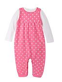 זול סטים של ביגוד לתינוקות-סט של בגדים כותנה שרוול ארוך אחיד יום יומי בנות תִינוֹק