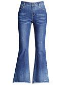 tanie Damskie spodnie-Damskie Bawełna Boot-cut / Jeansy Spodnie Solidne kolory / Święto