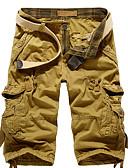 tanie Męskie spodnie i szorty-Męskie Len Luźna Typu Chino Spodnie Jendolity kolor
