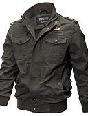olcso Férfi dzsekik és kabátok-Férfi Dzsekik Egyszínű Hímzett