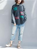 ieftine Tricou-Pentru femei Mărime Plus Size Tricou Bumbac Mată Mâneci Fluture, Franjuri