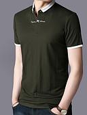 זול חולצות לגברים-קולור בלוק צווארון חולצה סגנון רחוב Polo - בגדי ריקוד גברים / שרוולים קצרים