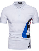 tanie Koszulki i tank topy męskie-Polo Męskie Aktywny Bawełna Kołnierzyk koszuli Geometric Shape / Krótki rękaw