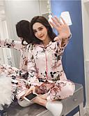 זול פיג'מות-בגדי ריקוד נשים חליפות פיג'מות-דפוס,פרחוני