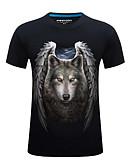 povoljno Muške majice i potkošulje-Majica s rukavima Muškarci-Osnovni Ulični šik Dnevno Sport Geometrijski oblici Životinja Print