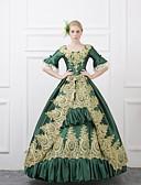 abordables Disfraces Históricos y Vintage-Cuento de Hadas Disfraces de Santa Renacimiento Disfraz Mujer Vestidos Disfraz Baile de Máscaras Ropa de Fiesta Accesorios Azul Rojo Verde