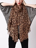 economico T-Shirt da donna-Per donna Basic Rettangolare - Chiffon Leopardata / Tessuto