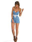 cheap Men's Underwear & Socks-Women's Basic Street chic Romper - Solid Colored, Lace