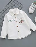 tanie Pianki, skafandry i koszulki-Brzdąc Dla chłopców Casual Codzienny Geometric Shape Klamra Długi rękaw Regularny Bawełna Koszula Niebieski 120