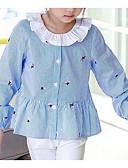 olcso Kislány ruhák-Gyerekek Lány Egyszínű / Csíkos Hosszú ujj Ing