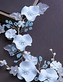 tanie Welony ślubne-Włókno syntetyczne Stroik z Kryształki / Sztuczna perła / Satynowy kwiatek 1 szt. Ślub / Urodziny Winieta